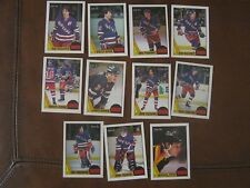 1987 NEW YORK RANGERS - TEAM / LOT OF 11 CARDS - O-PEE-CHEE