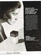 PUBLICITE ADVERTISING 065  1984  CHARLES OF THE RITZ   cosmétiques  AURASEVA
