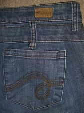 SEE THRU SOUL Flare Button Fly Stretch Denim Jeans Womens Size 29 x 32