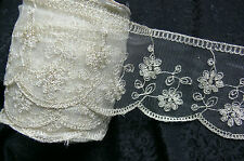 Mixed Lace IVORY CREAM - 6 Varieties 3 Metre Lengths Webster Polyester MultiList