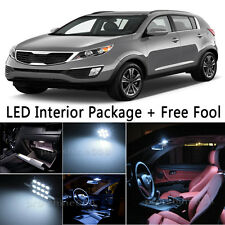 10X Bulb Car LED Interior Lights Package kit For 2011-up KIA Sportage White NQ