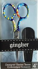 "Limited Edition Gingher  ""Tessa""  4 inch Designer Series Scissors"