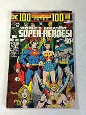 DC 100 PAGE SUPER SPECTACULAR #6 JLA JSA SUPERMAN BATMAN, 1971 NEAL ADAMS COVER