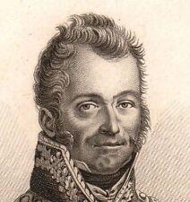 Maréchal de Camp Jean-François Rome Monay Jura Napoléon Bonaparte Empire 1818