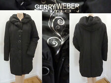 Gerry Weber Mantel Steppmantel Winter Outdoor Kapuze Daunen Schwarz 40 L Top