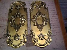 Reclaimed Solid Brass Door Finger Plates Antique finish 4 pairs