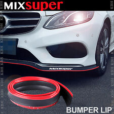 MIXSUPER Rubber Bumper Lip Splitter Chin Spoiler EZ Protector RED for Peugeot