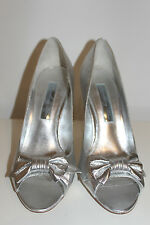 Steve Madden Something Blue 'AGATE' SILVER DRESS HEELS Sz 40 US 9 UK 7 Used Once