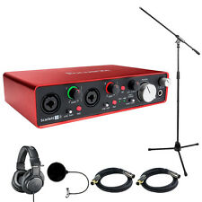 Focusrite Scarlett 2i4 USB Audio Interface (2nd Gen) w/ Headphone Bundle