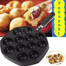 Takoyaki Pan 12 Cavities Japanese Octopus Cake Takoyaki Maker Snacks Bake Mold