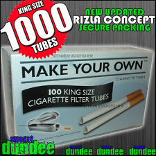 1000 MAKE YOUR OWN King Size Cigarette 8mm Filter Tubes - THE NEW RIZLA CONCEPT