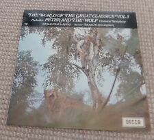 "The World of the Great Classics Vol.5, Prokofiev Peter & The Wolf Symp 12""Record"