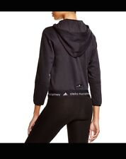 NWT Adidas Original Stella McCartney Organic Fleece Zip Black Sweatshirt Hoodie