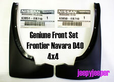 GENUINE FRONT 4x4 4WD MUD FLAP GUARD FOR NISSAN FRONTIER NAVARA D40 2004-2012