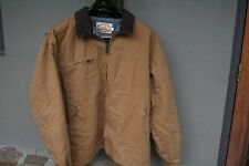 Mens PELLA Canvas Work Jacket Polyester Fleece Lined XL EUC