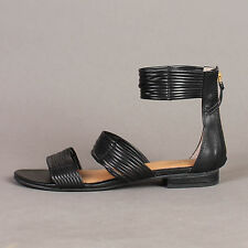SEYCHELLES flats STRAPPY open toe SANDALS shoes ankle boho gladiator black US 9