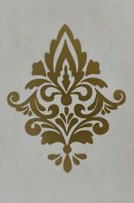 Gold Damask Wall Sticker x 5. Damask Wall Decals. Waterproof Tile Stickers DM1g