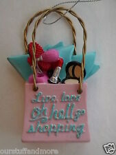 YEARROUND Midwest Ornament/Funny glittered SHOPPING MALL BAG with Humorous text