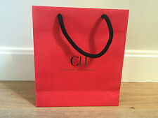 Used - CAROLINA HERRERA -bolsa de papel ROJA - Red Paper bag - 25 x 21,5 x 7 cm