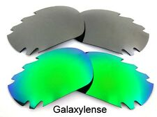 Galaxy Replacement Lenses For Oakley Jawbone Green&Titanium Polarized 2PS