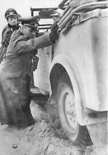 WWII Photo German General Rommel Stuck Car  WW2 /2101
