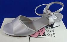 NEW Special Occasions by Saugus Shoe 19050 Silver Satin Bridal Dress Shoe 9.5B