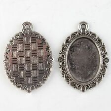 20x New Antique Silver Charms Photo Frame Alloy Pendants Fit Jewelry Necklaces L