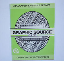 Shadowed Borders & Frames by Graphic Source Clip Art ( 1986, Paperback)