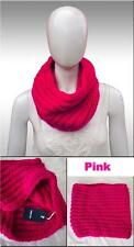 HAT ATTACK Pop Color Cowl Scarf Pink One Size round knit New Designer chunky