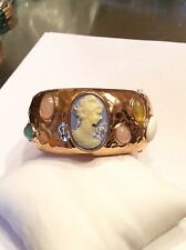 JOAN BOYCE Cameo/Gemstone S-M Bangle Bracelet