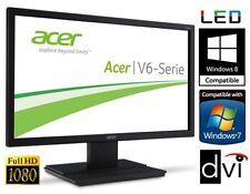 """24"""" TFT LED Monitor ACER VGA DVI 5ms 100Mio:1 LED LCD 16:9 FULLHD V246HLbmd"""