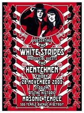 CLASSY MINT '03 THE WHITE STRIPES THE HENTCHMEN DETROIT CONCERT POSTER LOREN JC5