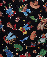 1 Yard Cotton Fabric - Windham Paper Doll Cowboy Clothes