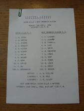 09/04/1984 Aston Villa Reserves v West Bromwich Albion Reserves  (Single Sheet)