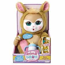 ANIMAL BABIES NURSERY KANGAROO Baby Doll Plush Pet NEW