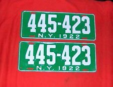 1922  New York License Plates Ford Chevy Dodge Buick Cadillac International