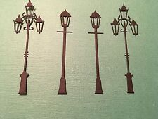 8x Lamp post die cuts (2 designs) FREE UK POSTAGE