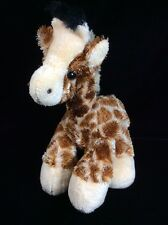 "Aurora Brown Tan Plush Bean Bag Giraffe Soft Toy Stuffed Animal 8"" Floppy"