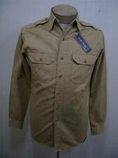 Polo Ralph Lauren Mens SMAll S Native American Indian Western Shirt Epaulet Army