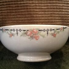 "TST IONA China Pottery Porcelain Footed Bowl Floral 5-3/4""w  2-1/4""t Vintage"
