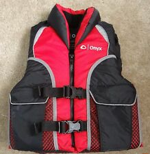 """ONYX flotation aid red/black/gray Vest,Youth 24-29"""" chest,50-90 lbs"""