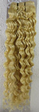 """AAA+ 18""""-26"""" Remy Curly Deep Weft Human Hair Extensions Weave 100g More Color"""