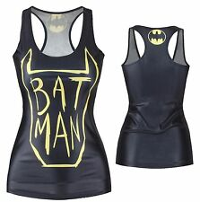 Womens Batman Comic Girls T Shirt Tank Top Cami Ladies Vest DC One Size New UK