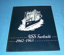 1962 1963 USS SURIBACHI AE-21 Cruise Book