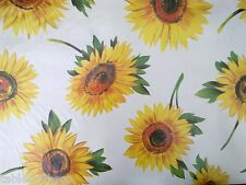 """1.4m/55"""" ROUND wipe clean vinyl sun flowers wipeable oilcloth TABLECLOTH CO"""