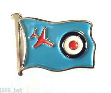 RAF Red Arrows Jet On Flag With Target Roundel Metal Enamel Aircraft Badge 22mm