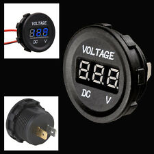 Blue LED Digital Waterproof Voltmeter Gauge Meter 12V-24V For Car Auto Motor#1