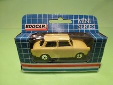 EDOCAR TRABANT - DDR GERMANY - CREAM YELLOW  1:50? - NEAR MINT IN BOX