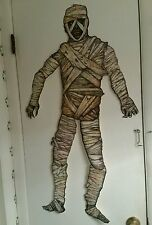 "BEISTLE 41""TALL-JOINTED HALLOWEEN��MUMMY��VINTAGE STYLE DIECUT-GET YOURS-TODAY!"