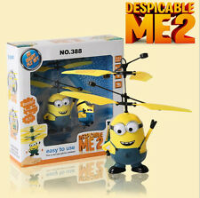 Despicable ME 2 Minion Sensor RC Helicopter Flying Fairy Kids Toy Gift Xmas